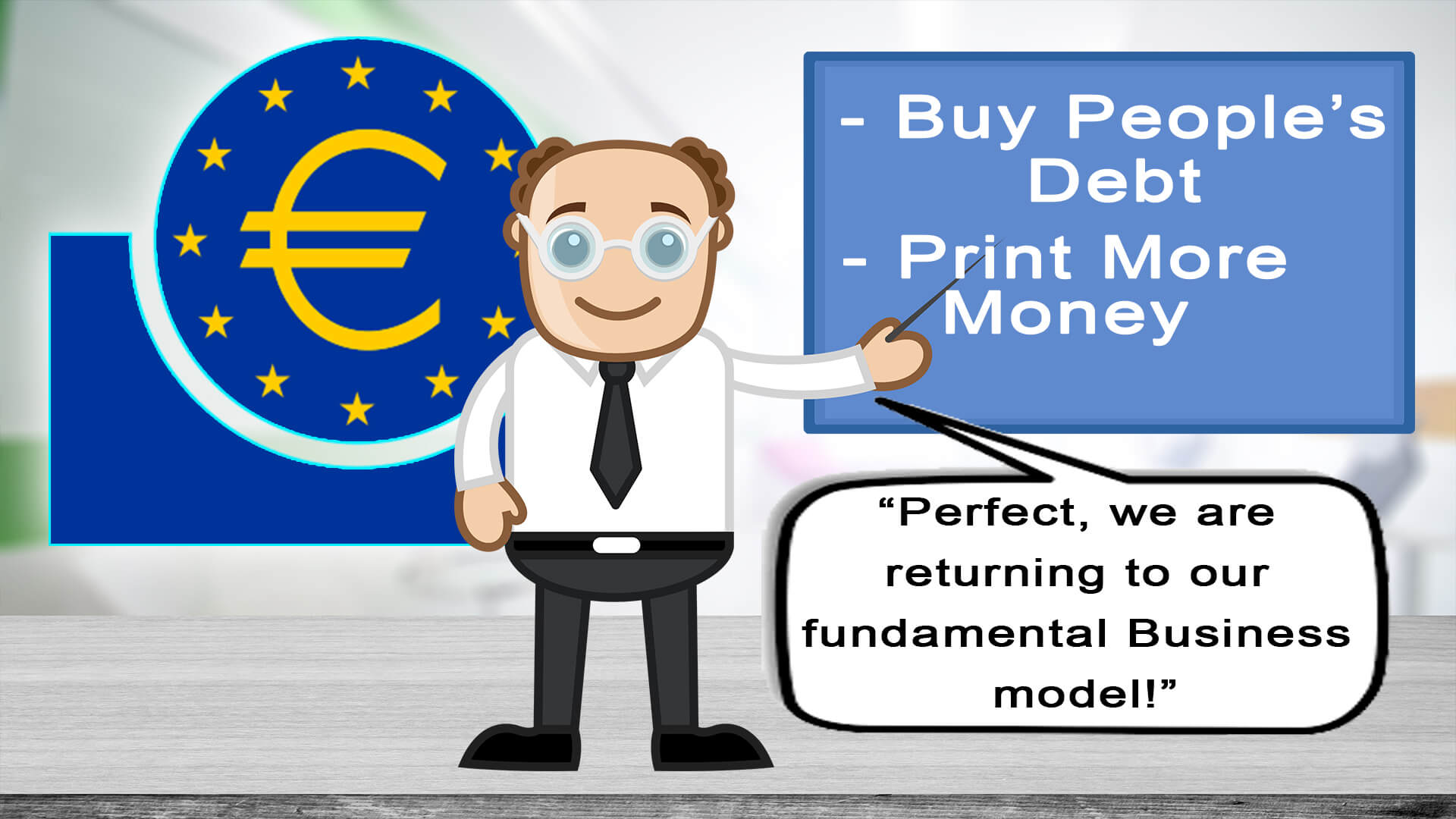 cartoon-man-pointing-to-board-with-words-and-text-below-with-ecb-logo-in-background